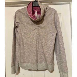 Lululemon Gray (reversible pink stripes) Pullover